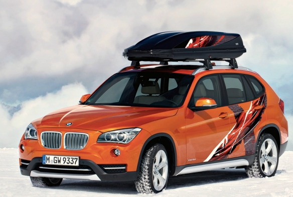 This is the Powder Ride Edition of the X1, BMW's pavement-eating snowmobile for well-heeled young couples or empty-nesters.
