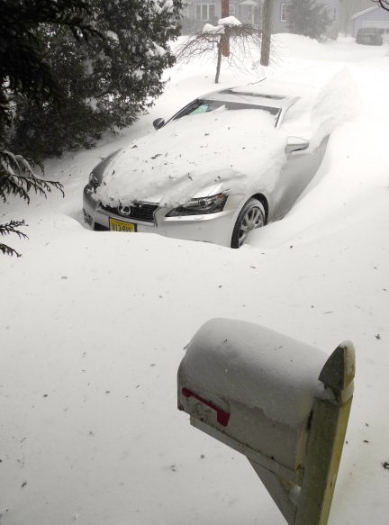 Nemo at his worst. This Lexus GS has AWD, but it didn't budge for 24 hours.