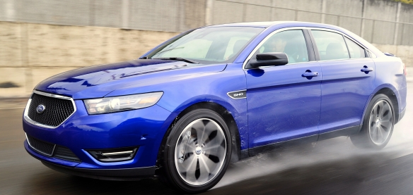 Dancin� in the rain: The all-wheel-drive 365HP 2013 Taurus SHO is Ford�s affordable all-weather fighter-bomber.