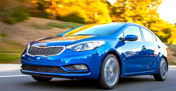 How do you like the sleek new nose? The 2014 Kia Forte EX Sedan is cheap to own and run, but comes with a lot of extras. Kia photo
