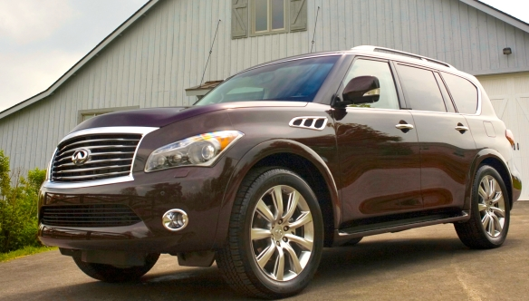 Infiniti�s all-weather, all-surface, three-row dreadnaught, the 2014 QX80. It doesn�t have to be pretty. Infiniti photo